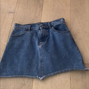 denim brandy skirt